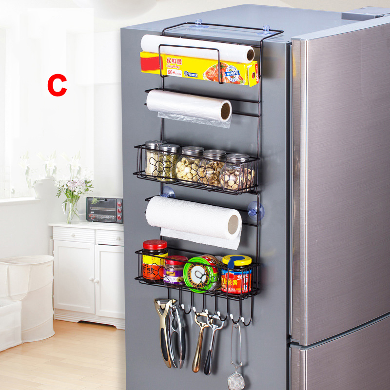 Refrigerator Hanging Storage Rack Holder Large Capacity For Home Kitchen Fridge @LS