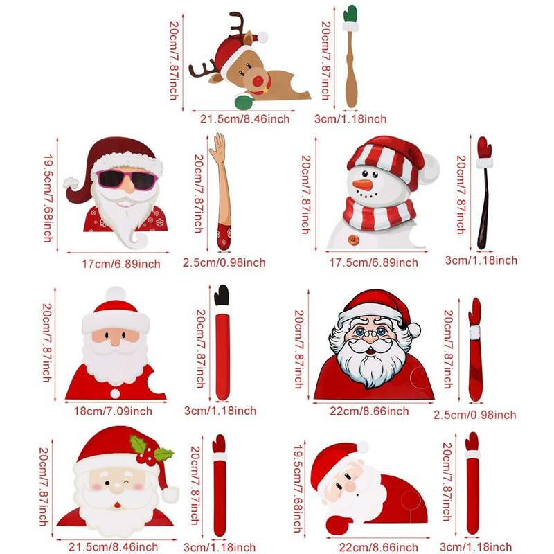 Image 3 - 2019 New Car Accessories Christmas Auto Decorations DIY Car Sticker Windshield Santa Claus Cute Window Decals Car Wiper Sticker-in Car Stickers from Automobiles & Motorcycles