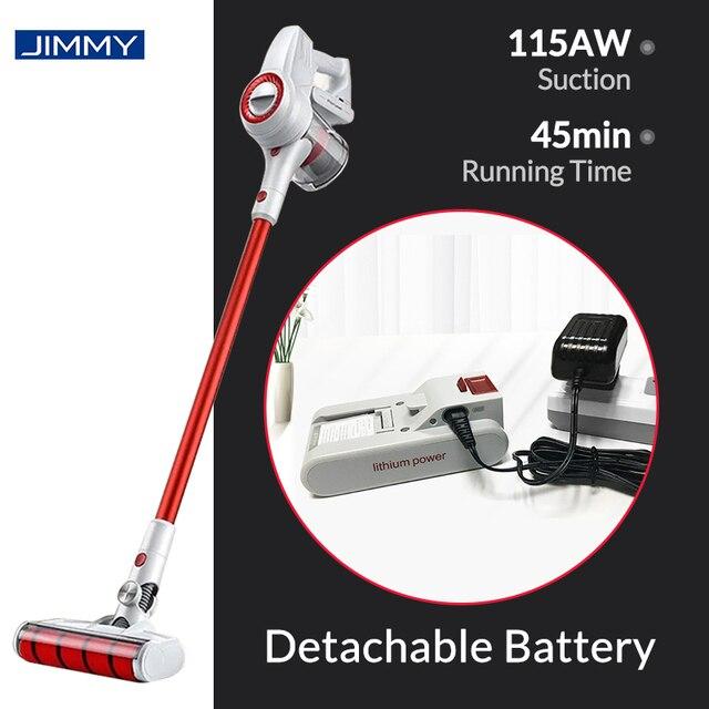 Xiaomi jimmy jv51 handheld aspirador de pó sem fio portátil ciclone filtro 115aw sucção mi tapete coletor poeira em casa