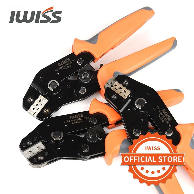 IWISS Hand Crimping Tools SN-28B SN-48B SN-01BM SN-2549 Ratchet Crimping Pliers For Crimp Dupont Terminals