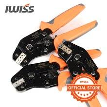 Ручные обжимные инструменты IWISS, обжимные клещи с храповым механизмом для обжима, обжимные клещи Dupont, с храповым механизмом, для 1/2/4/4/4/4/4/4