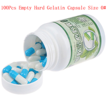10/100Pcs/Bottle Empty Hard Gelatin Capsule Size 0# Gel Medicine Pill Vitamins Personal Health Care Pill Cases Splitters