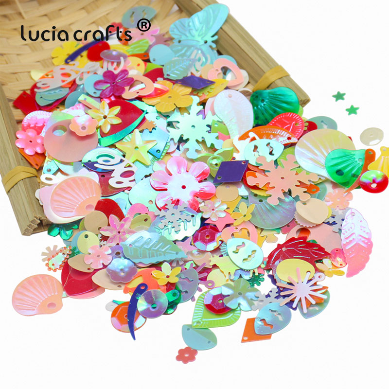 20g Mixed Loose Sequins Flower Fish Star Embellishment DIY Sewing Clothing Scrapbook Wedding Party Nail Art Decor D1003