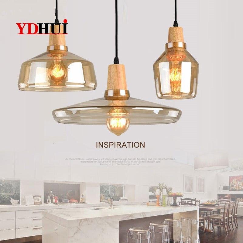 O moderno led luzes pingente nordic sala de jantar cozinha hanglamp luminária decoração industrial sala estar luminárias vidro|Luzes de pendentes| |  - title=