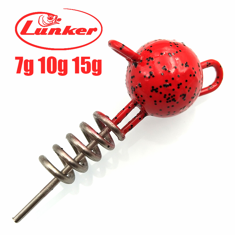 Lunker Center-Pin Screwing Head-Weight Jig Rigging-Softbaits Pumpkin Stinger-Rigs Flexhead title=