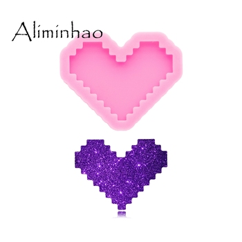 DY0576 Shiny Glossy 30mm Heart Silicone Mold - Polymer Clay Mould - Mold Resin Craft - Epoxy Jewellery Making Keychain