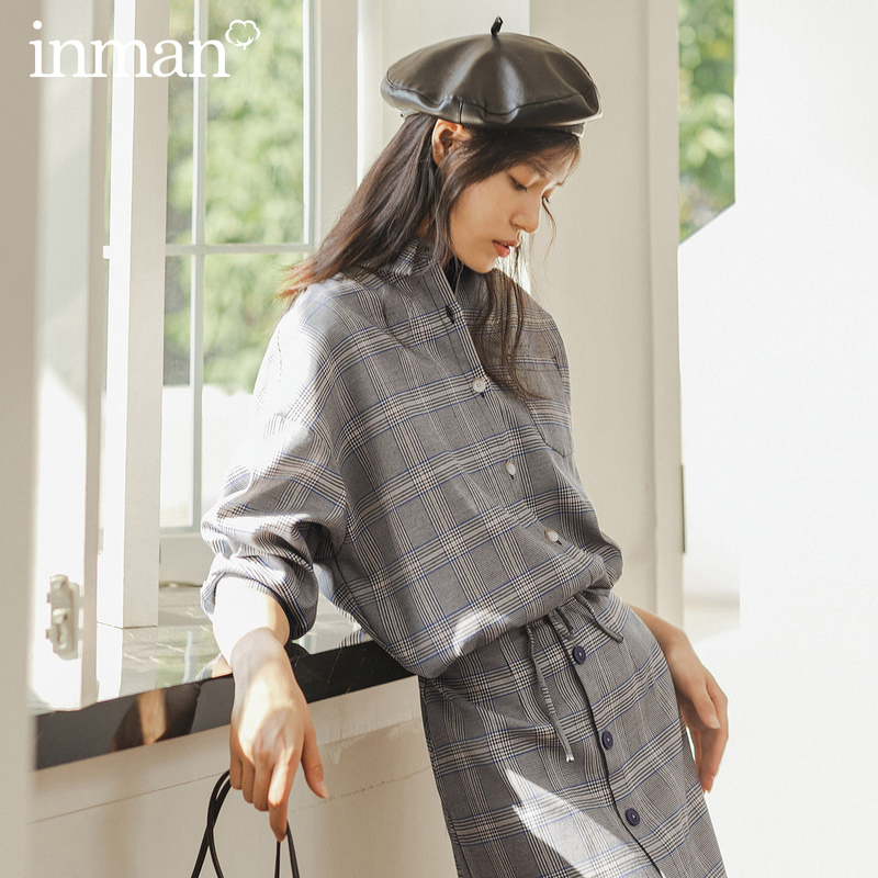 INMAN Winter Literary Lapel Batwing Sleeve Single-breasted Loose All-match Surcoat