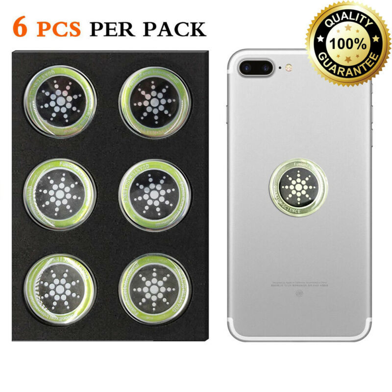 EMF Protection Shield Blocker Neutralizer Anti Radiation Cell Phone Sticker 6pcs Protection Fusion Excel Anti-Radiation