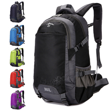 40L Large Capacity New Men Backpack Out Door Waterproof Casual Male Backpacks Women Sport Bag Black Travel Red Blue