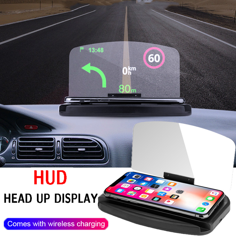 Newest Head Up Display OBD <font><b>Car</b></font> <font><b>Electronics</b></font> HUD Display <font><b>Car</b></font> Speedometers Overspeed Warning OBD2+GPS Dual Mode GPS Speedometer image