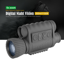 Digital Optical Infrared Night Hunting 6×50 Single Night Vision Instrument 200m Range Telescope Image Vdeo Monocular Binoculars