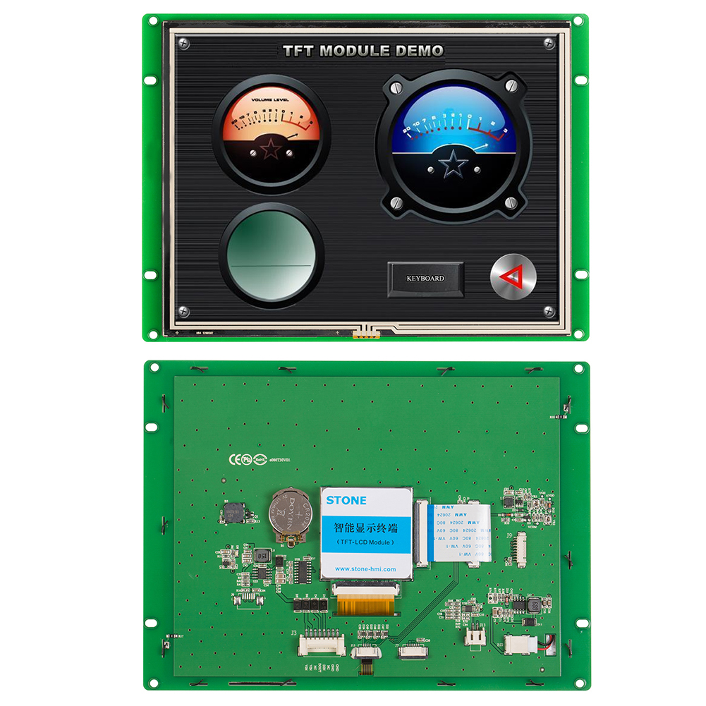 Graphic Display 8 Inch LCD Touch Monitor RS485 Port