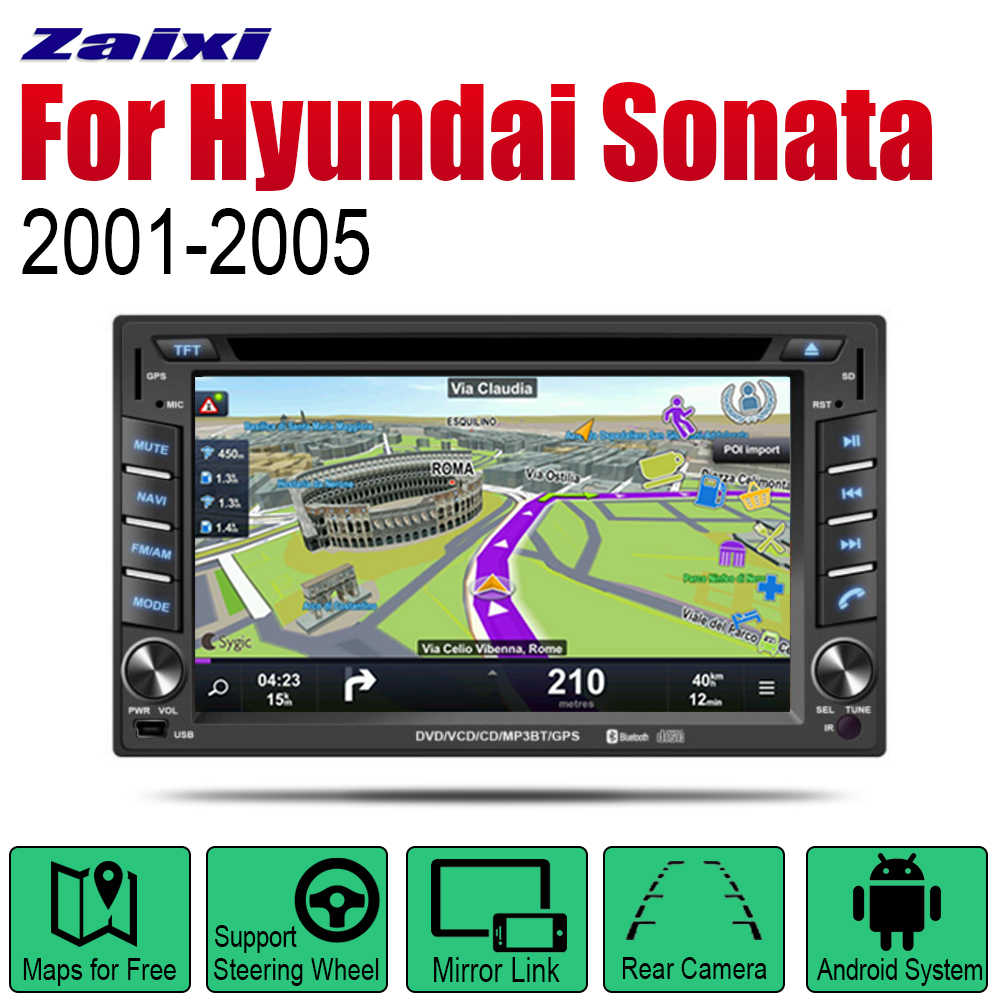 ZaiXi Android 2 Din Auto Radio DVD Voor Hyundai Sonata V6 Gold 2001 ~ 2005 Car Multimedia Player GPS Navigatie systeem Radio Stereo