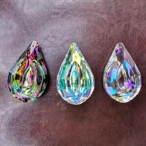 Image 4 - Atrapasueños de cristal colorido, colgante de níspero, Prisma para lámpara, piezas, adornos colgantes, decoración del banquete de boda, figurita