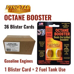 Dyno Tab Fuel Octane Booster Gasoline Petrol Of the Fuel Economy Carbon Cleaner (36 Blister Cards)