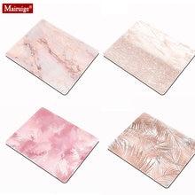 Розовый коврик для мыши текстура мраморный узор простота маленький