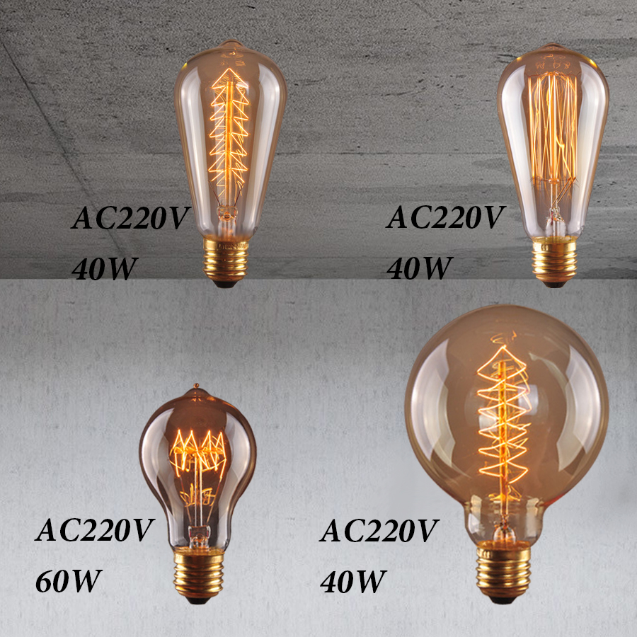 retro vintage edison bulb e27 40w 220v ampoule vintage bulb edison lamp filament Incandescent light bulb led retro lamp decor