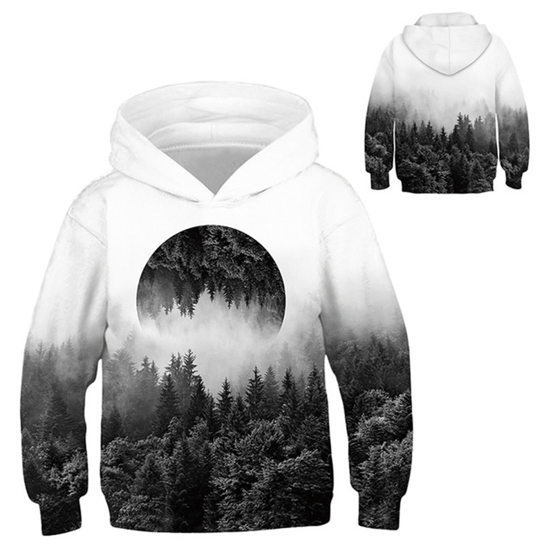 INPEPNOW Space 3D Print Astronaut Hoodies for Girl Sweat Shirt Cotton Clothes for Kids Hoodies for Boys Sweatshirt Pullovers 32 5