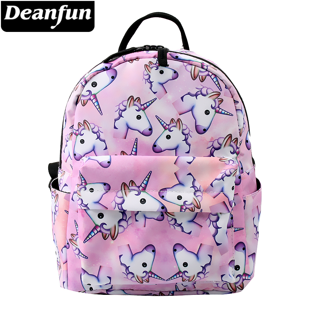 Deanfun Mini Backpack 3D Printed Pink Unicorn Fashion Waterproof Backpack Women Small Backpack For Teenage Girls MNSB-1