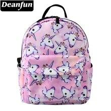 Deanfun Mini Backpack 3D Printed Pink Unicorn Fashion Waterproof Women Small For Teenage Girls MNSB-1