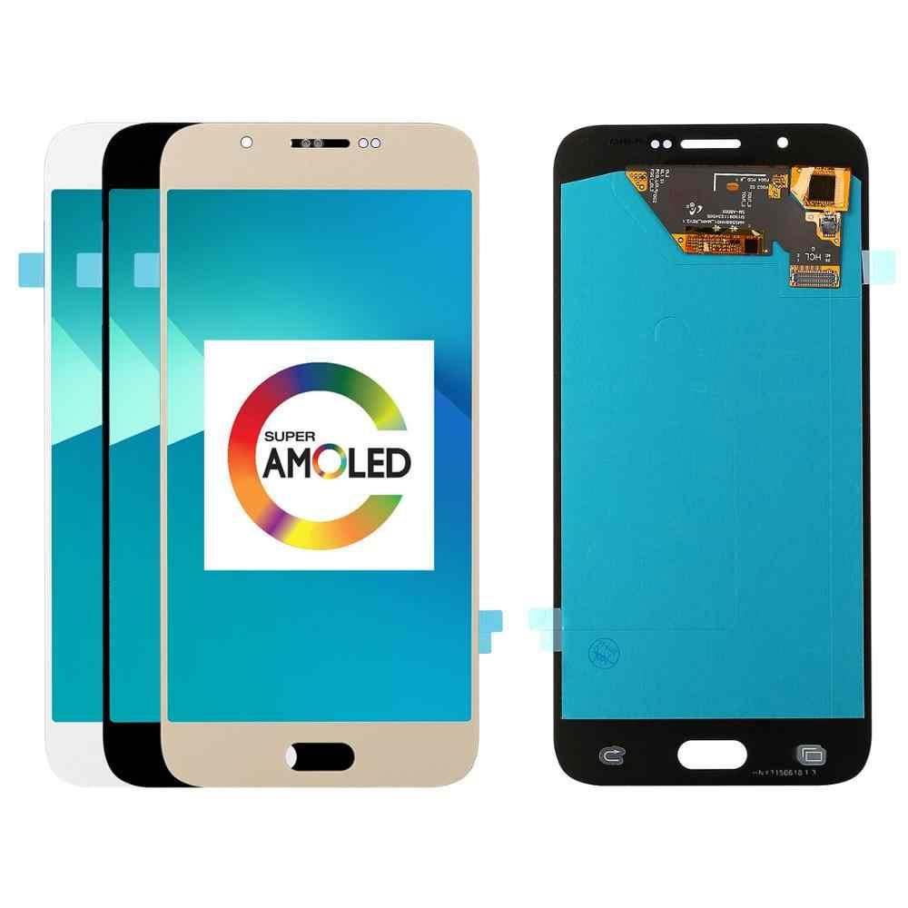"""5 قطع من 5.7 """"لسامسونج غالاكسي A8 2015 A800 A8000 A800F شاشات الكريستال السائل عرض مجموعة المحولات الرقمية لشاشة تعمل بلمس استبدال"""
