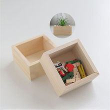 Storage Box Wooden Wood Home Small Department Store Finishing Desk