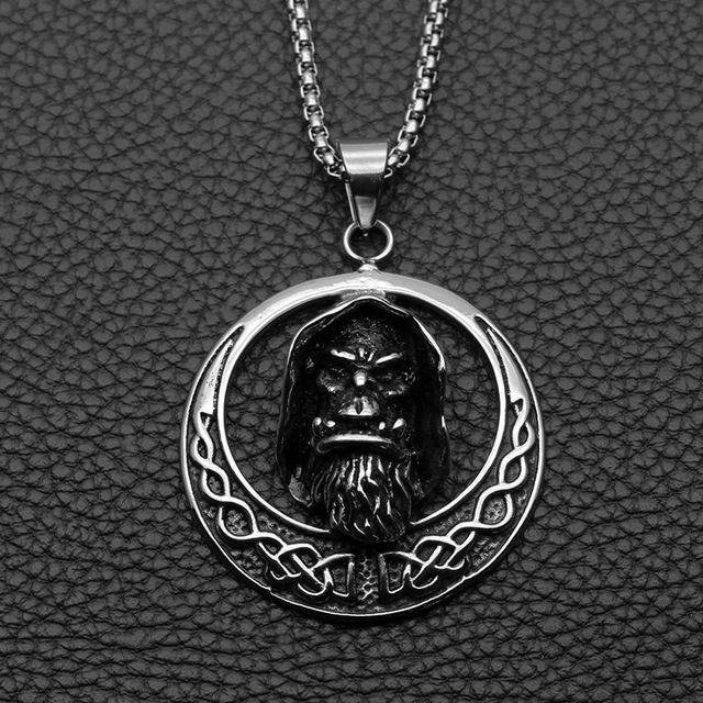 STAINLESS STEEL IMMORTAL SKULL NECKLACE