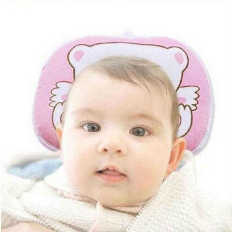 นุ่มหมอนเด็กทารกป้องกัน Flat Head Syndrome สำหรับเปลเด็กเตียงคอสนับสนุนหมอน