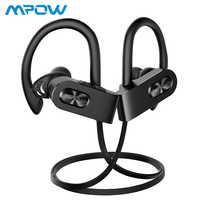 Mpow Flame2 bezprzewodowe sportowy zestaw słuchawkowy Bluetooth 5.0 słuchawki CVC6.0 słuchawki douszne z redukcją szumów IPX7 wodoodporne z mikrofonem do iphone