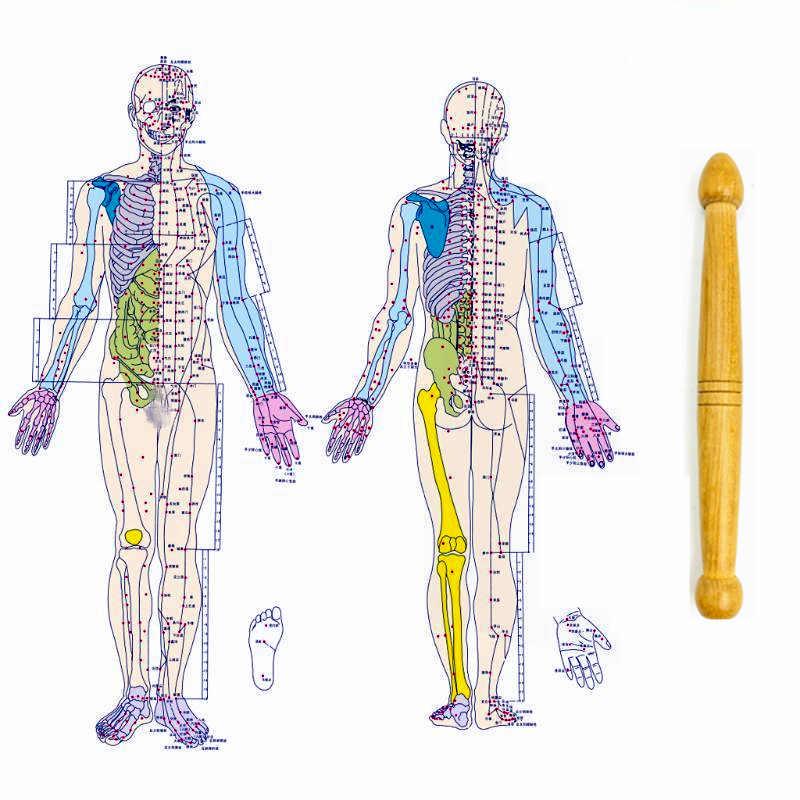 Traditionellen Thai Massage Holz Stick Tool Akupressur Stift Schaben Bord Anti-falten Auge Massage Set Lymphatischen Massager Set