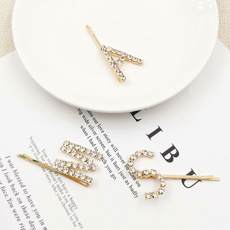 Stonefans Single Rhinestone Personalized Letter Hairpins for Women Crystal Custom Word Hair Clips Hair Barrettes Jewelry Gift in Hair Jewelry from Jewelry Accessories