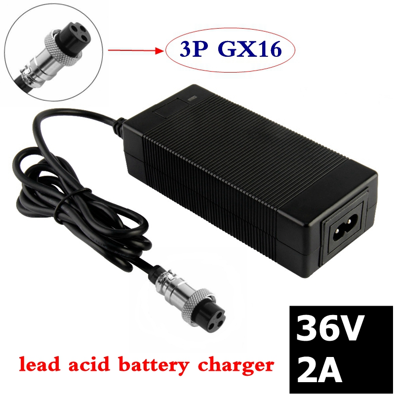 36V 2A High Pressure Lead-acid Battery Charger Ebike Electric Scooter Charger For Electric Bicycle Vehicles