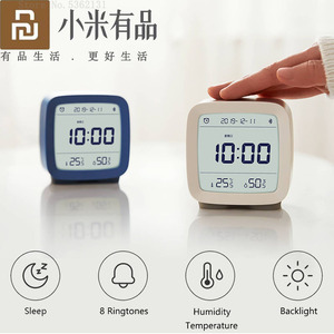 Image 1 - Youpin Cleargrass Bluetooth Alarm Clock Temperature Humidity Monitoring Night Light With Display LCD Screen Work With Mijia App