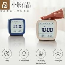 Youpin Cleargrass Bluetooth מעורר שעון טמפרטורת לחות ניטור לילה אור עם תצוגת LCD מסך לעבוד עם Mijia App
