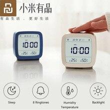 Youpin Cleargrass reloj despertador con Bluetooth, control de temperatura y humedad, luz nocturna con pantalla LCD, funciona con la aplicación Mijia