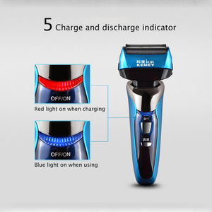 Image 5 - Reciprocating Electric Shaver for Men 3D Floating Four Blade Rechargeable Bread Shaving Machine Waterproof Electric Razor D43