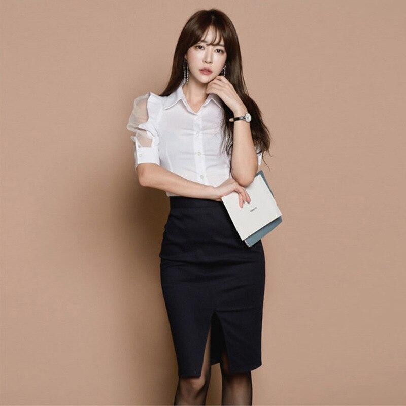 Debutante Fashion New Style Debutante WOMEN'S Dress Wear Shirt + Sheath Skirt Set