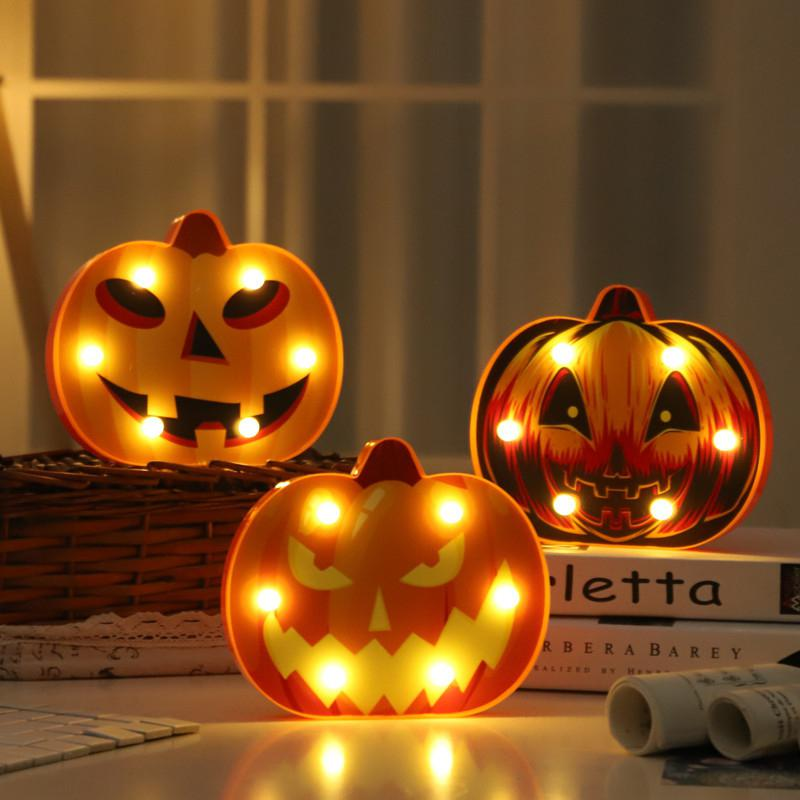 Halloween Light LED Pumpkin Lamp For Party Decoration Pumpkin Lamp Halloween Decoration Horror Skeleton Halloween Night Light