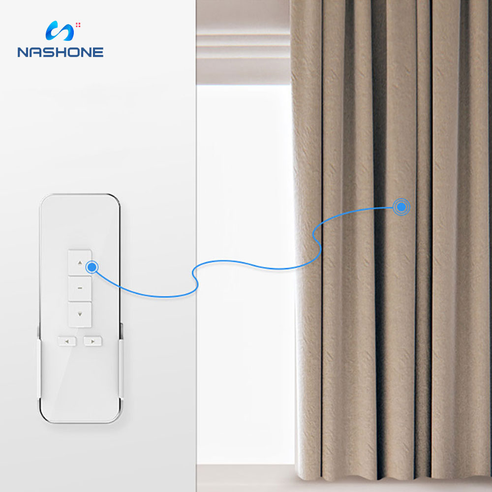 Nashone Remote Control Wireless Smart Motorized Electric Curtain Track Smart Curtain Control System Customize Motor Control For