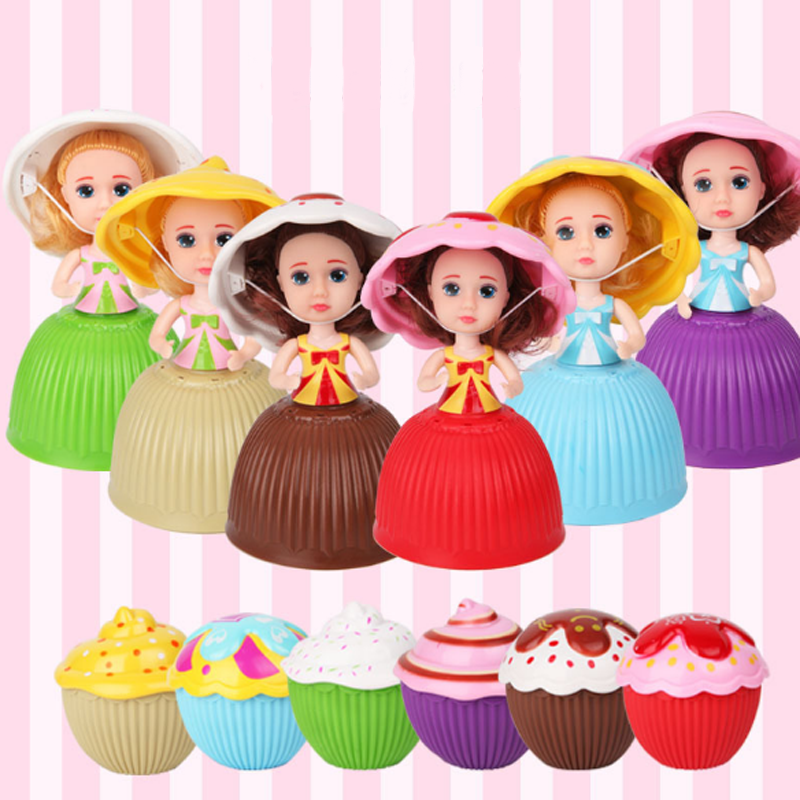 1 Mini Cartoon Cupcake Dolls Toys for Girls Children Cute Cake Doll Lovely Birthday Surprise Dolls Transformed Kids Funny Games