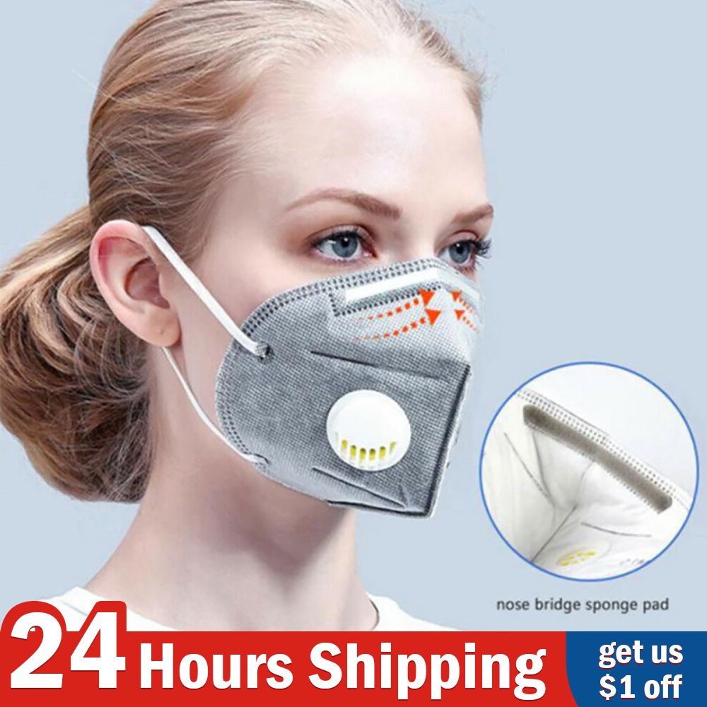 N95 N99 Reusable Masks Valved Face Mask 6 Layers Filter Bacterial Flu Protection Face Mask Mouth Cover Pm2.5 Anti-Dust Masks