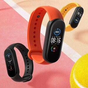 Image 2 - שיאו mi mi Band 3 4 הגלובלי גרסה חכם צמיד כושר צמיד להקת שעון 3 גדול מגע מסך הודעה קצב לב זמן Smartband