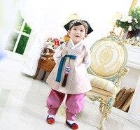 Korean Imported Fabric Boys First Birthday Korean Clothes / High grade Children's New Korean Clothes Belt Boys Kids Clothes