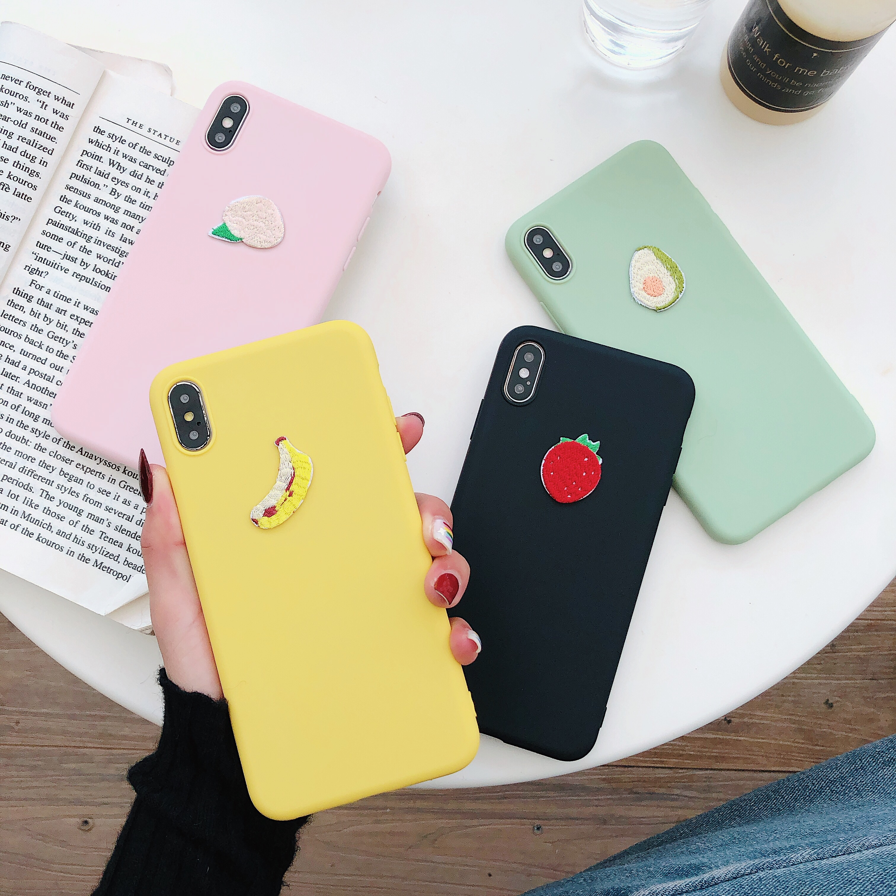 Cute 3D Avocado Banana Soft Silicone TPU Case For Xiaomi Redmi Note 7 6 5 Pro 7A 6A 5A K20 Pro Case Candy Color Cover Fundas in Fitted Cases from Cellphones Telecommunications