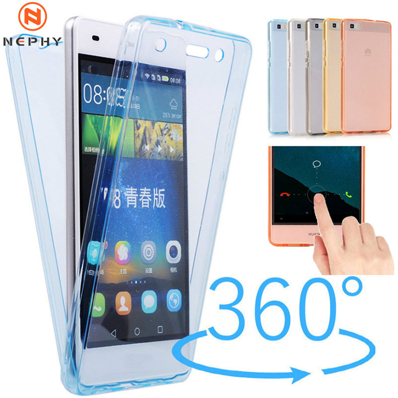 360 Degree Full protect Clear Phone Case For huawei P8 P9 Lite 2017 P10 Plus P20 P30 Mate 10 20 Lite Pro Soft TPU Silicone Cover