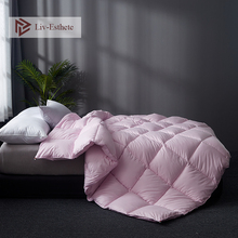 Liv-Esthete Luxury High Grade Pink Comforters Filled Duvets Bedding Double Queen King Duvet Hand work Silk Quilts