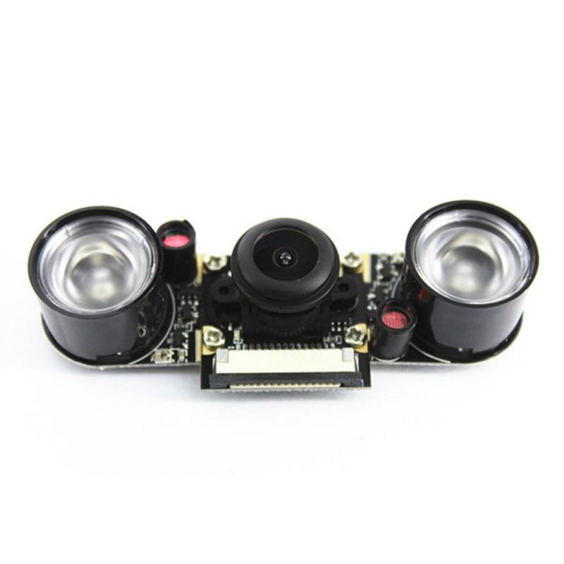 Night Vision Fisheye Camera 5MP 130 Degree Focal Adjustable Camera For Raspberry Pi 3B/Plus