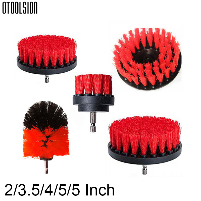 OTOOLSION Electric Power Scrubber Brush Drill Cleaning Brush For Car Interiors Carpet Glass Car Tires Bathroom Surfaces Tub Tile