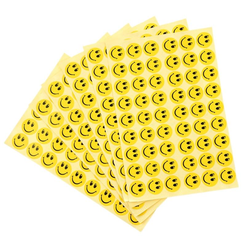 324 Pcs Smile Face Children Reward Merit Praise Stickers For School Teacher Party