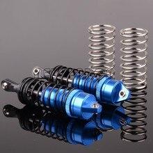 Amortiguador de aceite relleno F/R de aleación para coche de control remoto, amortiguador de 72-90MM, pieza Traxxas 5460 Revo 1/10 e-revo 3,3 Summit Jato XO-1, #2,0, 2 uds.
